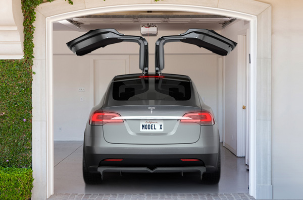 Tesla Model X Wing Doors