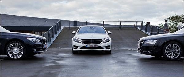 Getest: Audi A8 vs BMW 7-Reeks vs Mercedes S-Klasse
