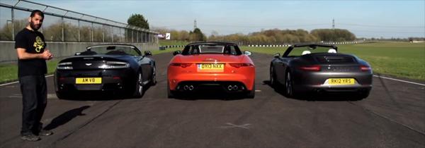 V8 Vantage roadster s vs f-type s vs 911 carrera s cabrio