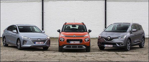 VAB Gezinswagen van het jaar 2018: C3 Aircross, Grand Scenic en IONIQ Electric