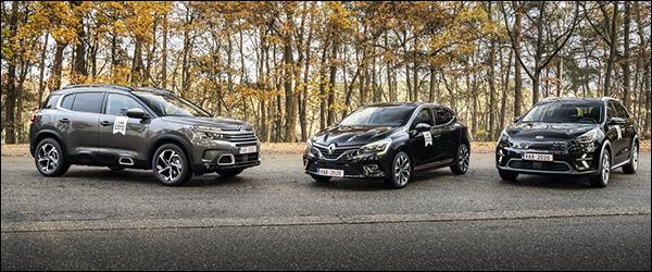 VAB Gezinswagen van het jaar 2020: Renault Clio, Citroen C5 Aircross en Kia e-Niro