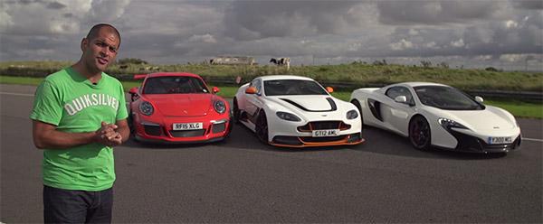 Poll: Aston Martin GT12 vs Porsche 911 GT3 RS vs McLaren 650S Spider