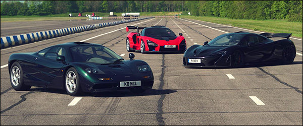Video: McLaren F1 vs McLaren P1 vs McLaren Senna (2019)