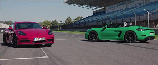 Video: Autocar test de vernieuwde Porsche Cayman GTS en Boxster GTS (2020)