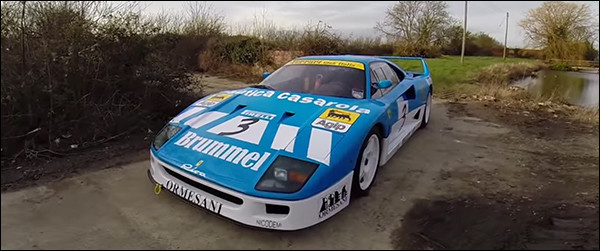 Video: Ferrari F40 GT Farmkhana [Tax The Rich]