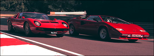 Video: Lamborghini Miura vs Countach