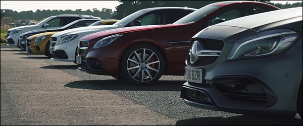 Video: Mercedes-AMG A45 vs SLC43 vs C63 vs S65 vs AMG GT