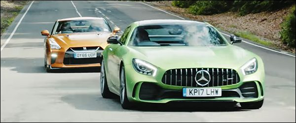 Video: Nissan GT-R vs Mercedes-AMG GT R