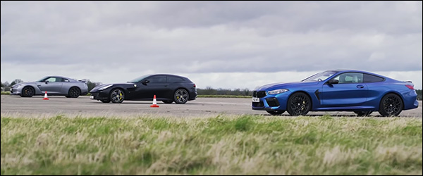 Video: BMW M8 Competition vs Ferrari GTC4 Lusso vs Nissan GT-R (2020)