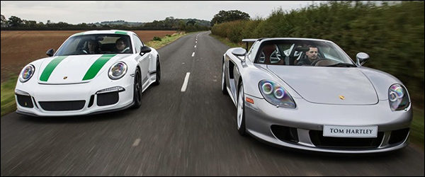 Video: Porsche Carrera GT vs 911 R
