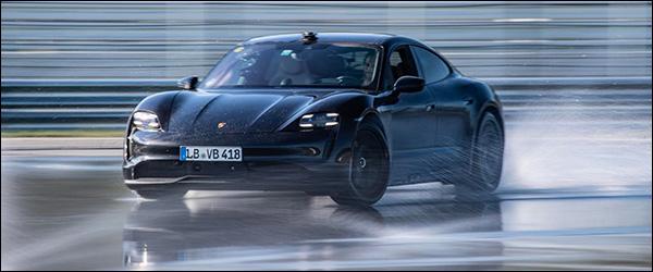 Video: Porsche Taycan kan stevig driften (2020)