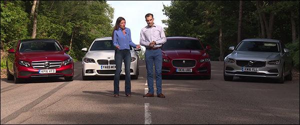 Poll: BMW 5-Reeks, Jaguar XF, Volvo S90 of toch de Mercedes E-Klasse?