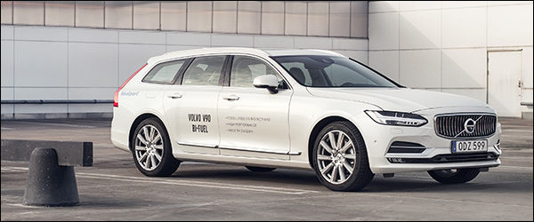 Officieel: Volvo V90 Bi-Fuel CNG [254 pk / 350 Nm / 125 g/km CO2]