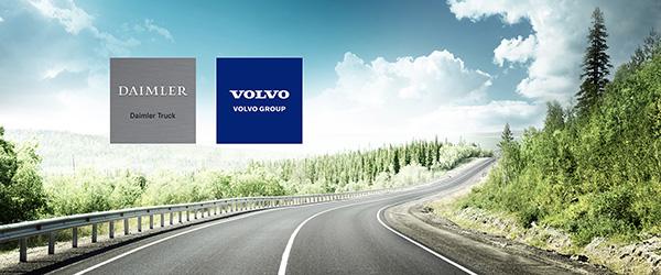 Volvo en Mercedes werken samen aan vrachtwagens op waterstof (2020)