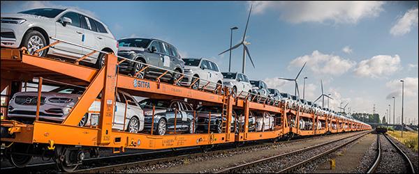 Volvo verkiest de trein voor haar logistieke activiteiten (2020)