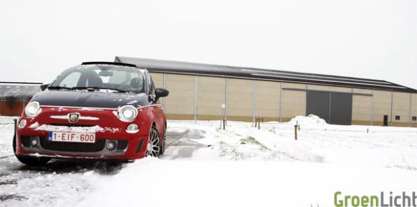 Abarth 595 Turismo in snow