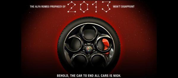 alfa romeo 4c teaser 2013