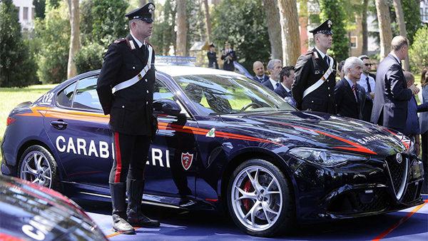 Alfa Romeo Giulia Quadrifoglio voor de Italiaanse Politie!