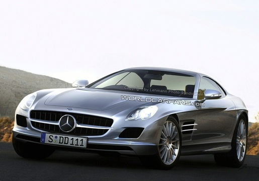 Spyshots: Mercedes SLC Gullwing vleugeldeur