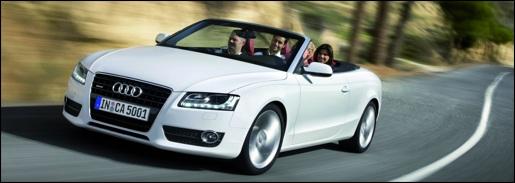 Witte Audi A5 Cabrio