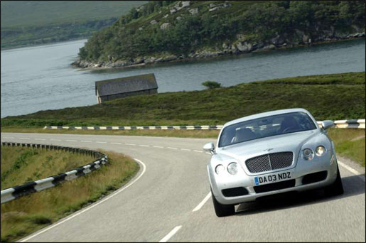 Bentley Continental GT Vooraanzicht