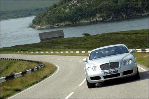 Bentley Continental GT Vooraanzicht