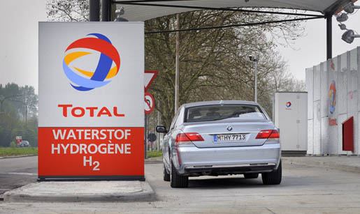 BMW 7 Hydrogen waterstoftankstation waterstof