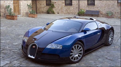 Bugatti Veyron Vooraanzicht