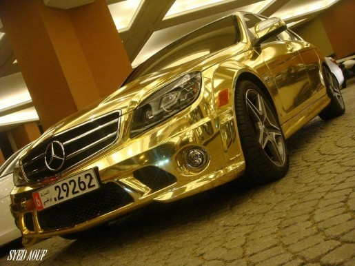 Chromen Mercedes C63 AMG