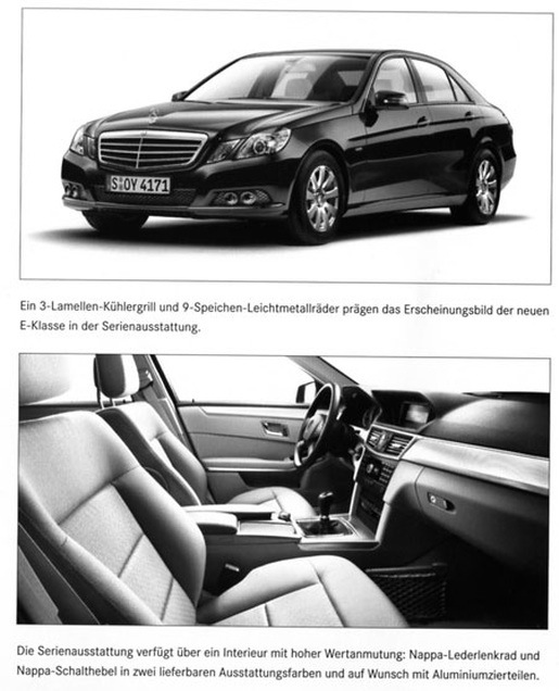 Nieuwe Mercedes E-klasse zwart standaard