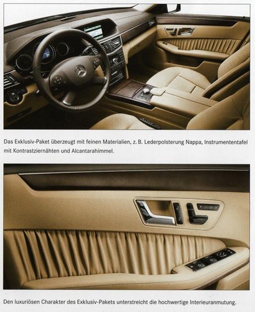 Nieuwe Mercedes E-klasse Exclusive interieur pakket