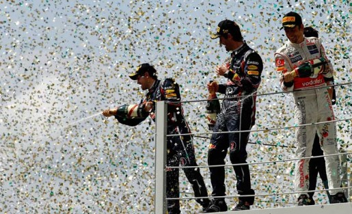 GP Brasil 2011 - Podium