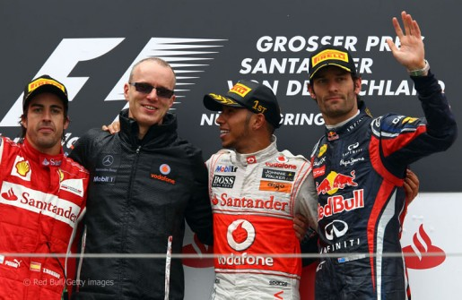 GP Duitsland 2011 podium