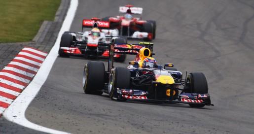 GP Duitsland 2011 Webber-Hamilton-Alonso