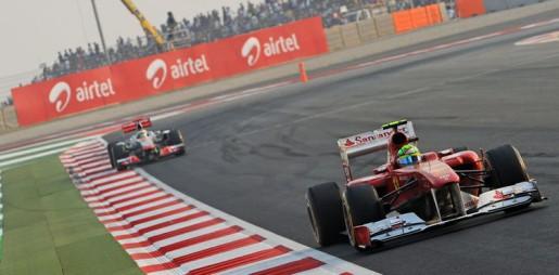 GP India 2011 - Massa vs Hamilton