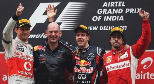 GP India 2011 - Podium
