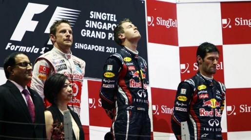 GP Singapore 2011 - Podium