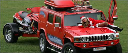 Hummer christmas kerstmis