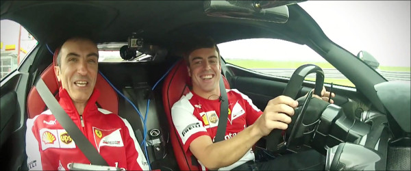 LaFerrari en Fernando Alonso