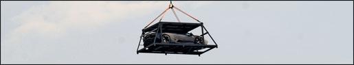 Lamborghini Reventon vliegt boven turijn