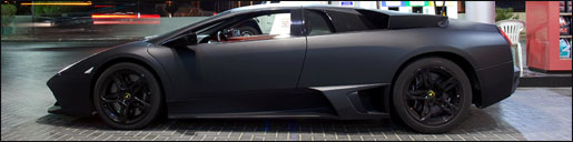 Matzwarte Lamborghini Murciélago