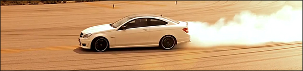 Mercedes C63 AMG Coupe Ducati 848 Blonde Babe