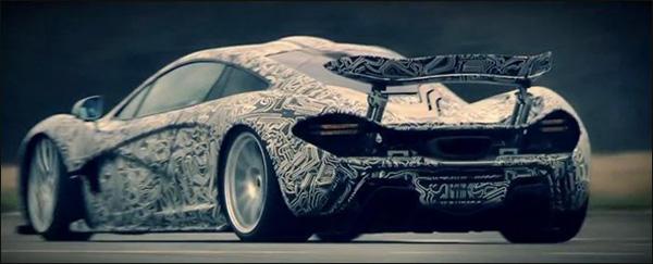 McLaren P1 on top gear track