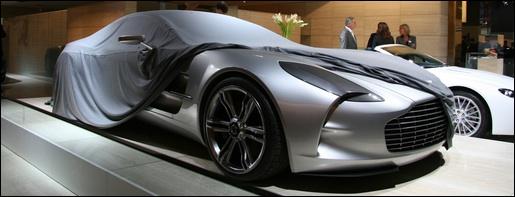 Aston Martin One-77 in Parijs
