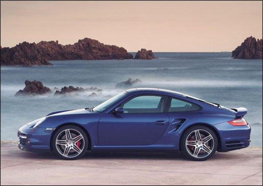 Porsche 911 Turbo Zijaanzicht