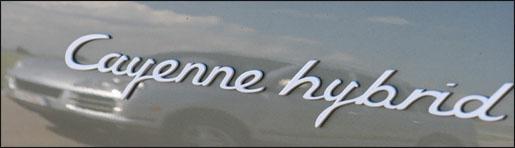 Porsche Cayenne Hybride Logo