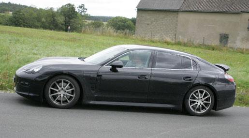Spyshots Achterspoiler Porsche Panamera GroenLichtbe