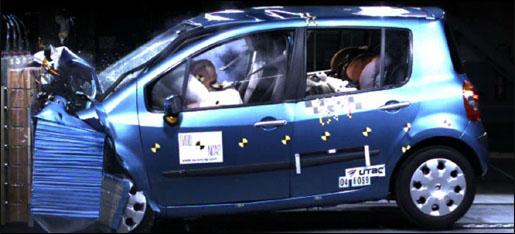 Renault Modus 5 NCAP Sterren