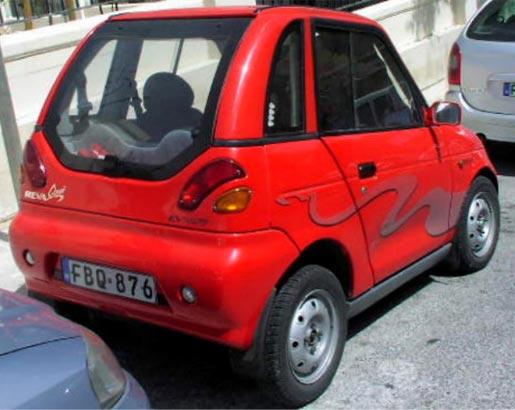 REVA elektrische wagen