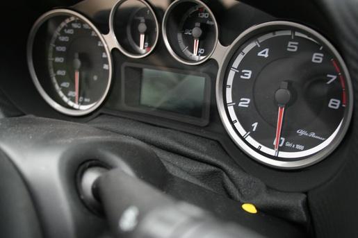 Alfa Romeo MiTo Rijtest wijzerplaten